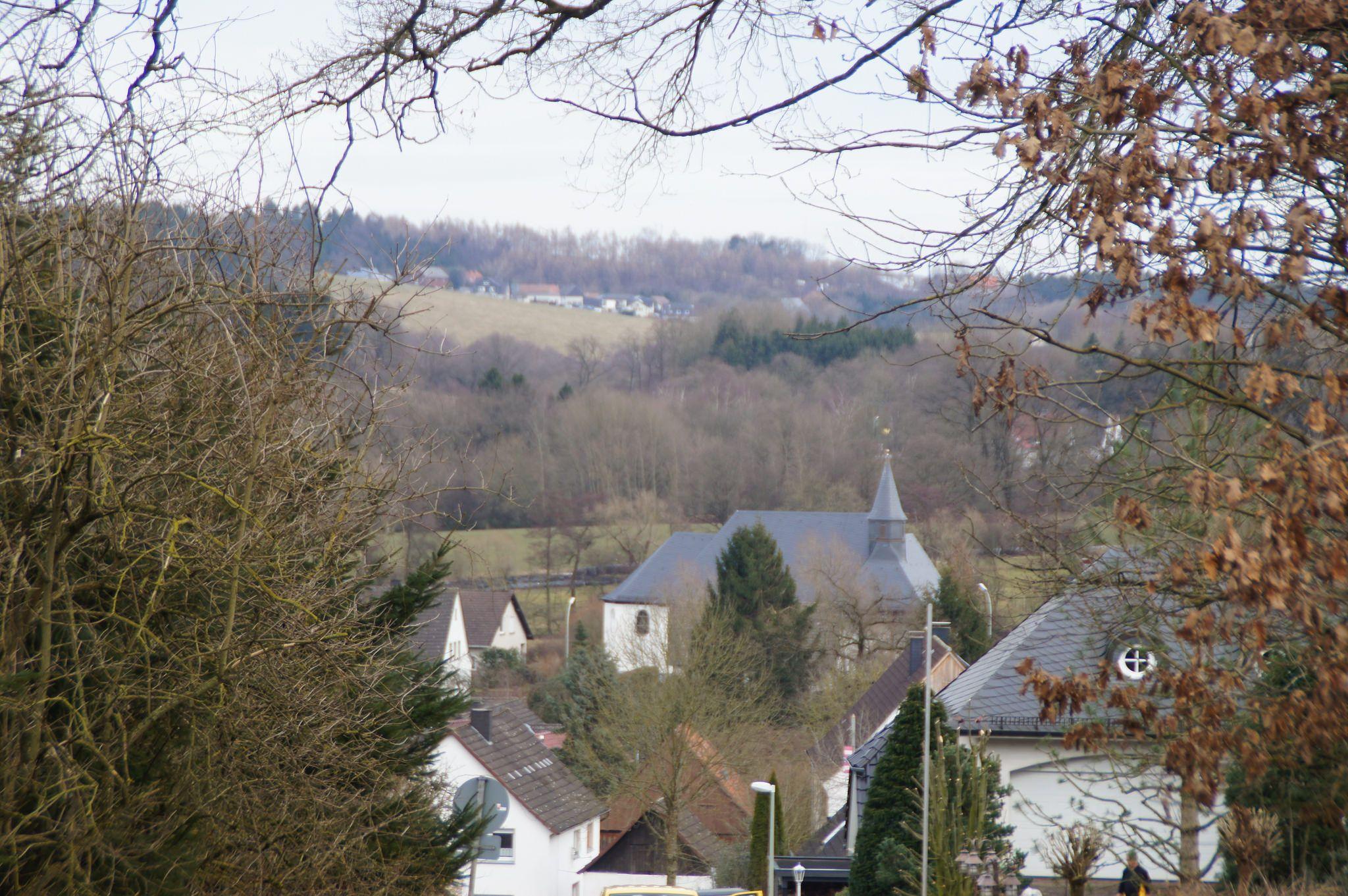 Blick auf Niederbergheim von Westen