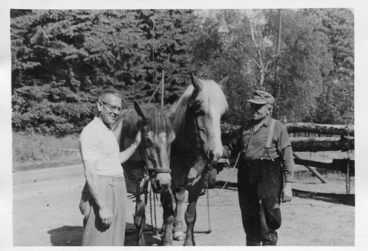 Fritz Stockebrand mit seinem Fuhrwerk