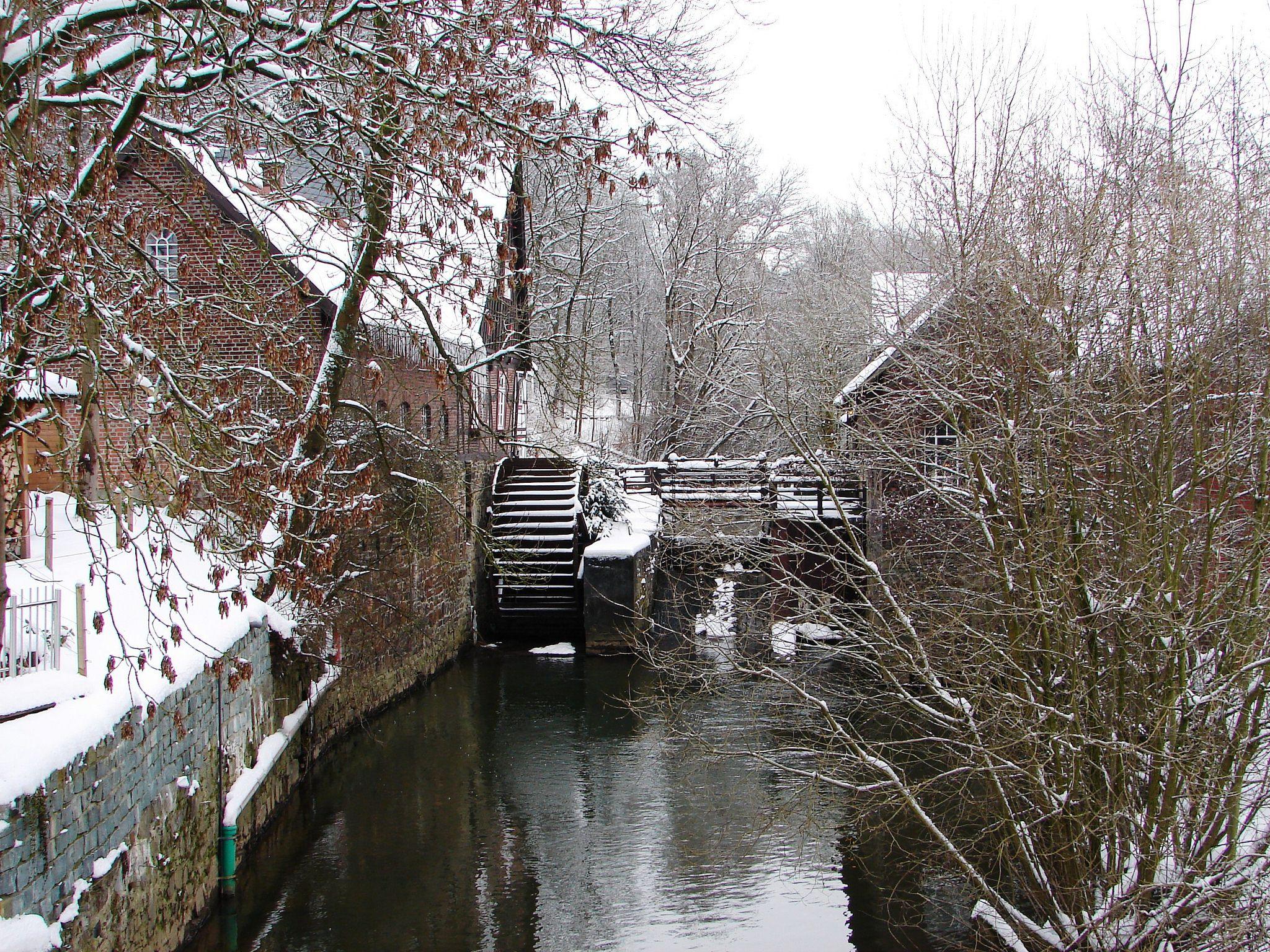 Die winterliche Mühle