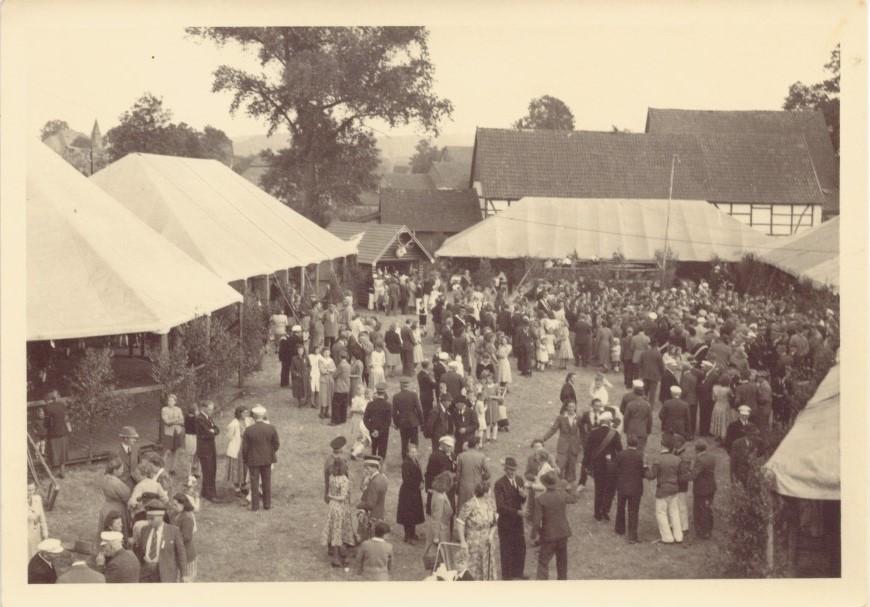 Jubelschützenfest 1949 auf dem Hof Hinse