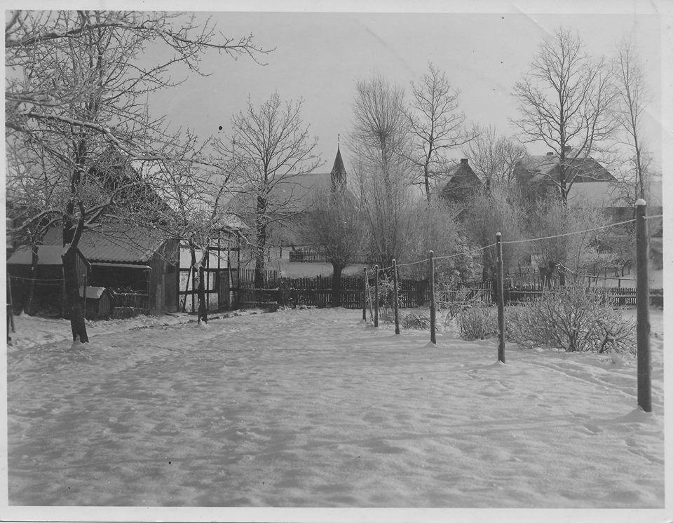 Winterlicher Ausblick aus der Jägergasse Richtung Kapelle