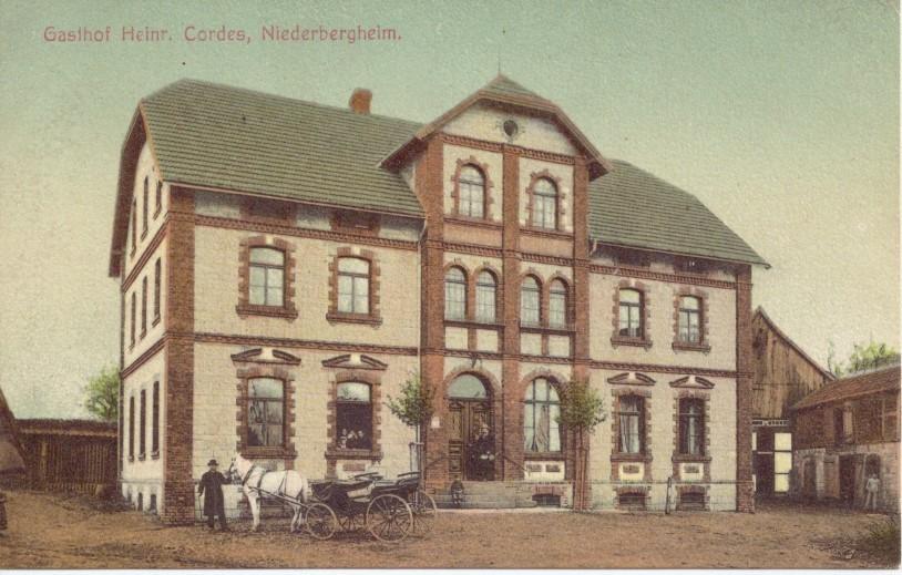 Der Gasthof Cordes um 1910