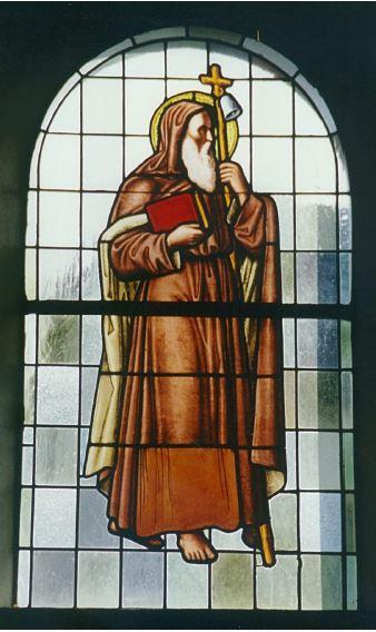 Antoniusfenster von 1921 in unserer Kapelle