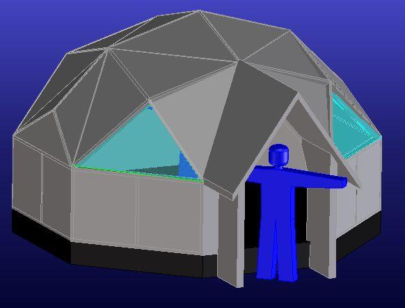 オクト(八角形)ドーム、直径5.2m計画