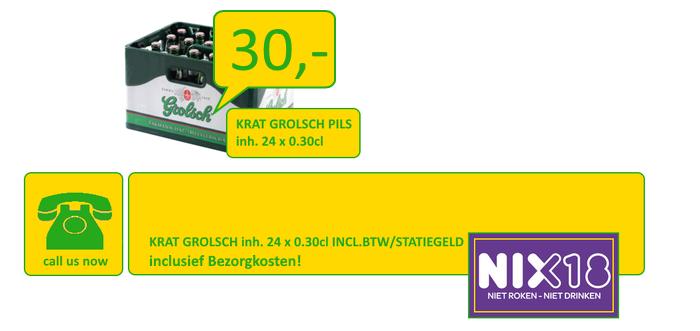 """""""Wij bezorgen gekoeld Grolsch Bier en Heineken in Hengelo Borne Oldenzaal enschede Almelo"""""""