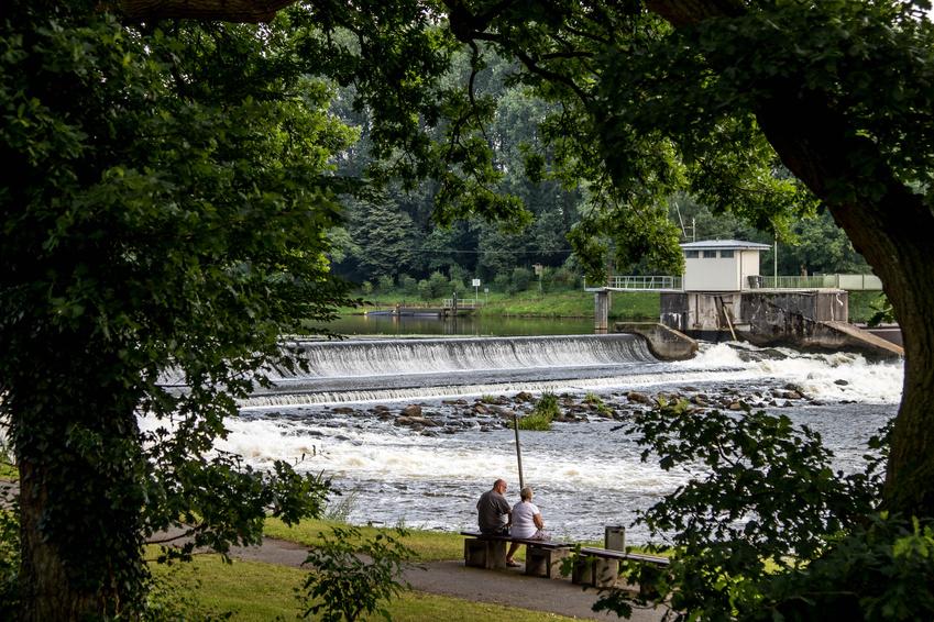 Wasserfall am Hanekenfähr in Lingen