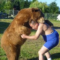 画像はクマと戦うイメージです。
