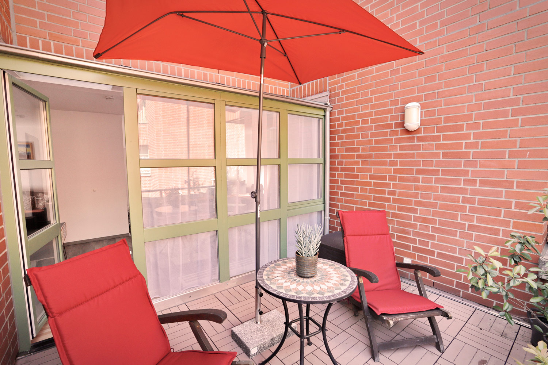 Balkon zum Hinterhof
