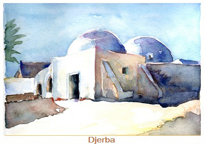 Djerba (studio ad acquerello)