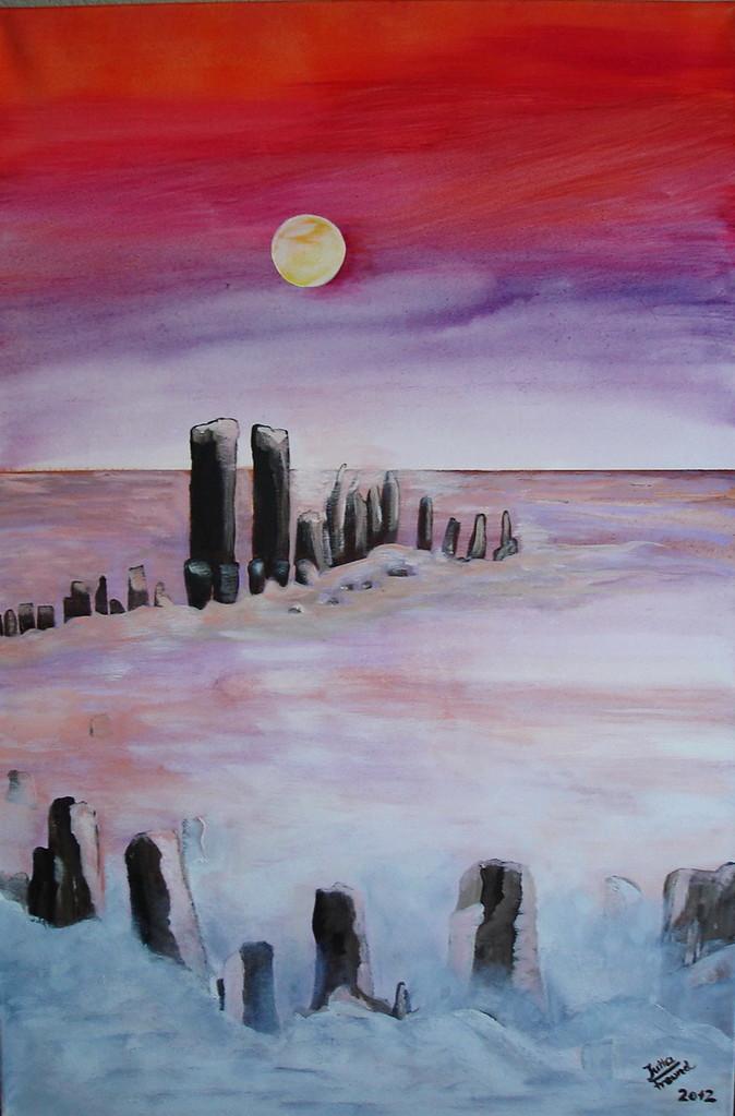 Mond-Impression Acryl/Leinwand  90x60x4   € 450