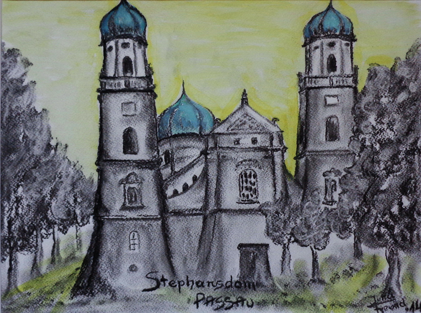 Stephans-Dom in Passau 40x50