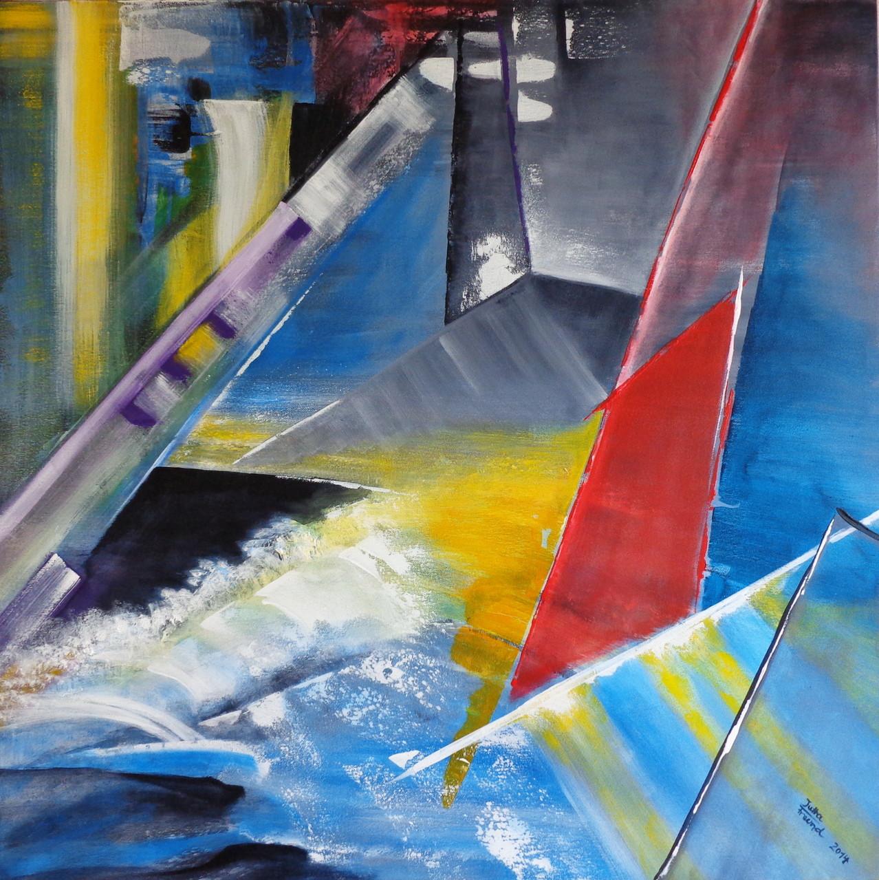 Die Kraft des Wassers - Acryl 80x80