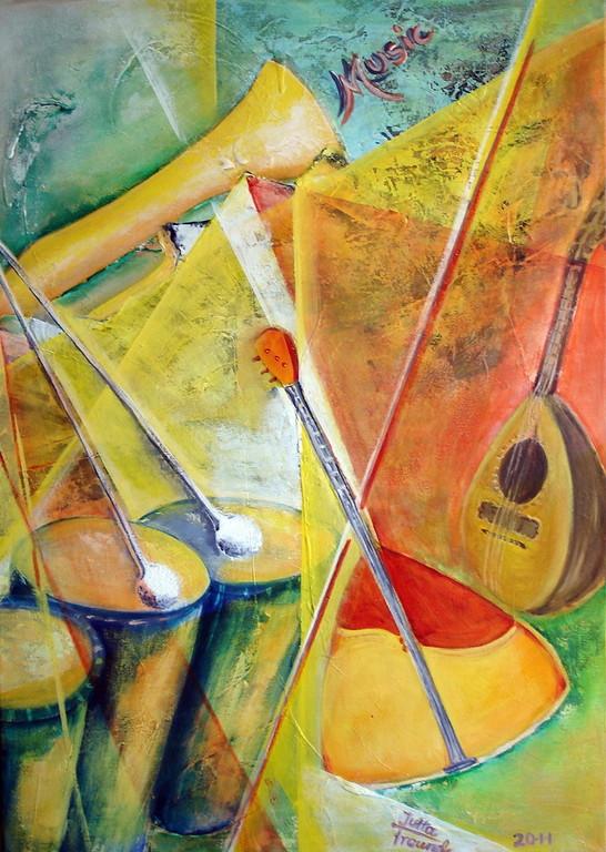 music  . . .  Acryl auf Leinwand 70x50