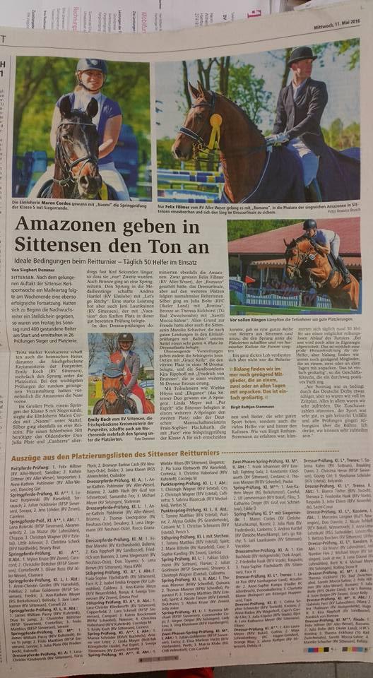 Verschiedene Bilder für die Zeitung