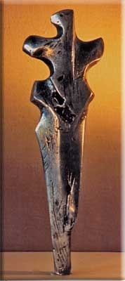 Figur Silberguss 25 x 8 cm