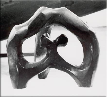 3-geteilt Bronze 35 x 40 cm