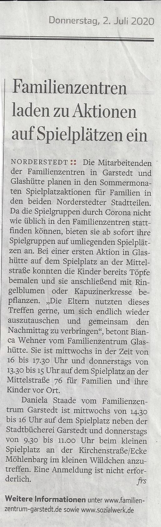 Hamburger Abendblatt - Norderstedt 02.07.2020