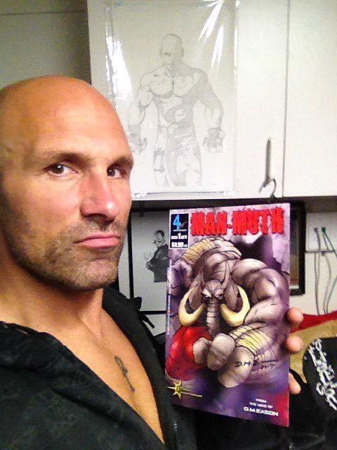 Professional wrestler, The Fallen Angel Christopher Daniels, is a Man-Muth fan!