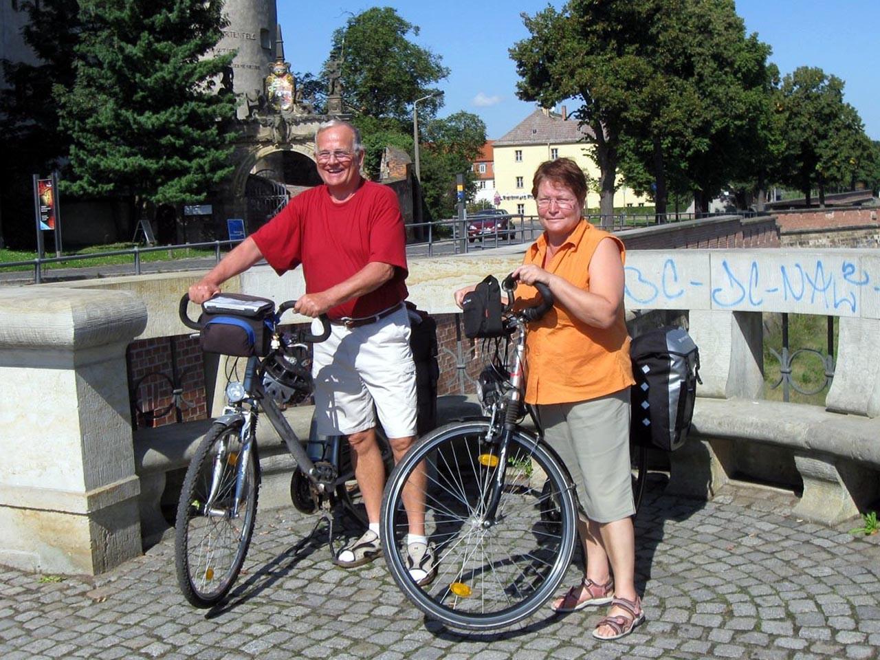 Auf dem Elberadweg in Torgau