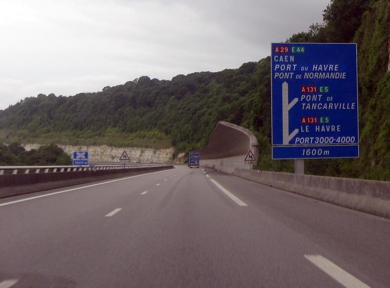 Auf der A 29 Richtung Le Havre