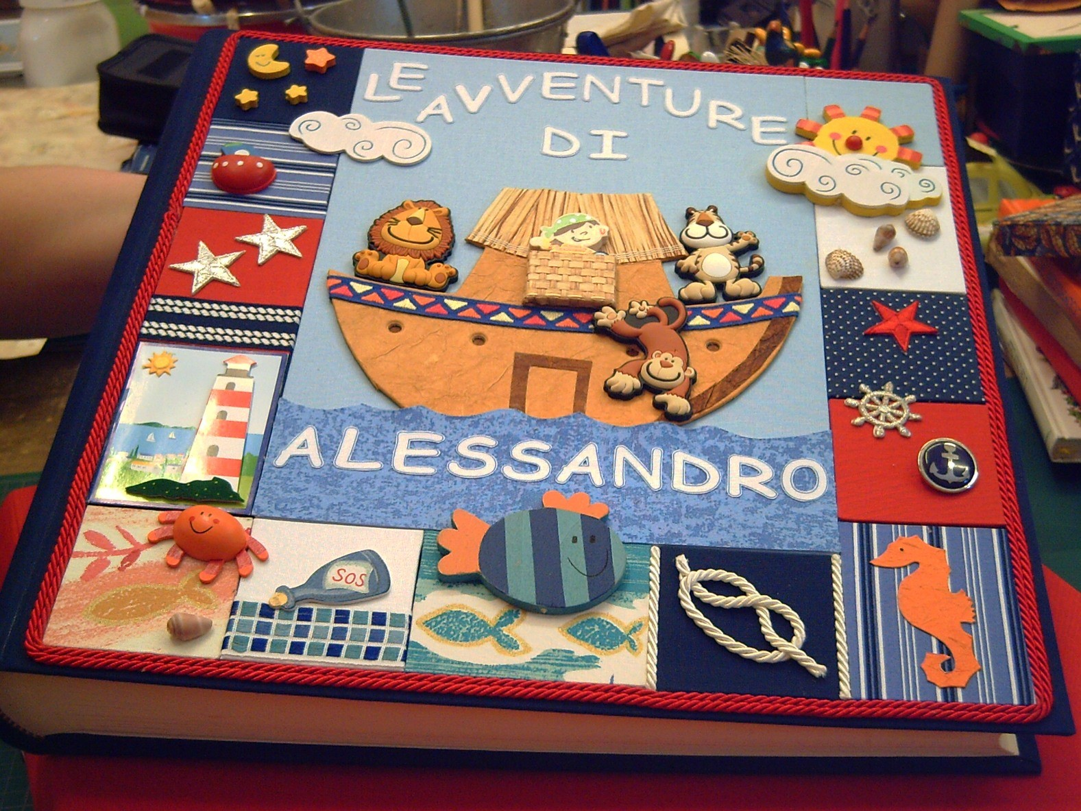 Altro esempio di originale creazione di copertina patchwork