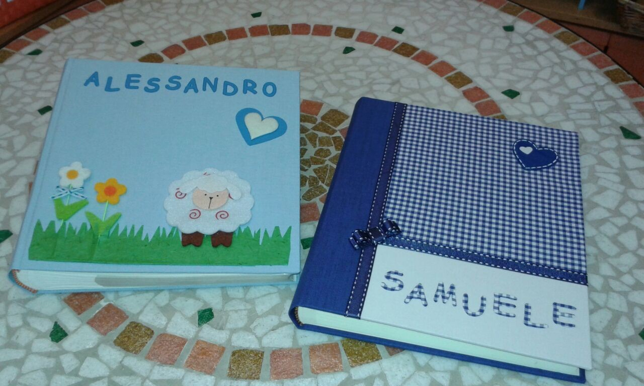 Due personalizzazioni di album per bambini