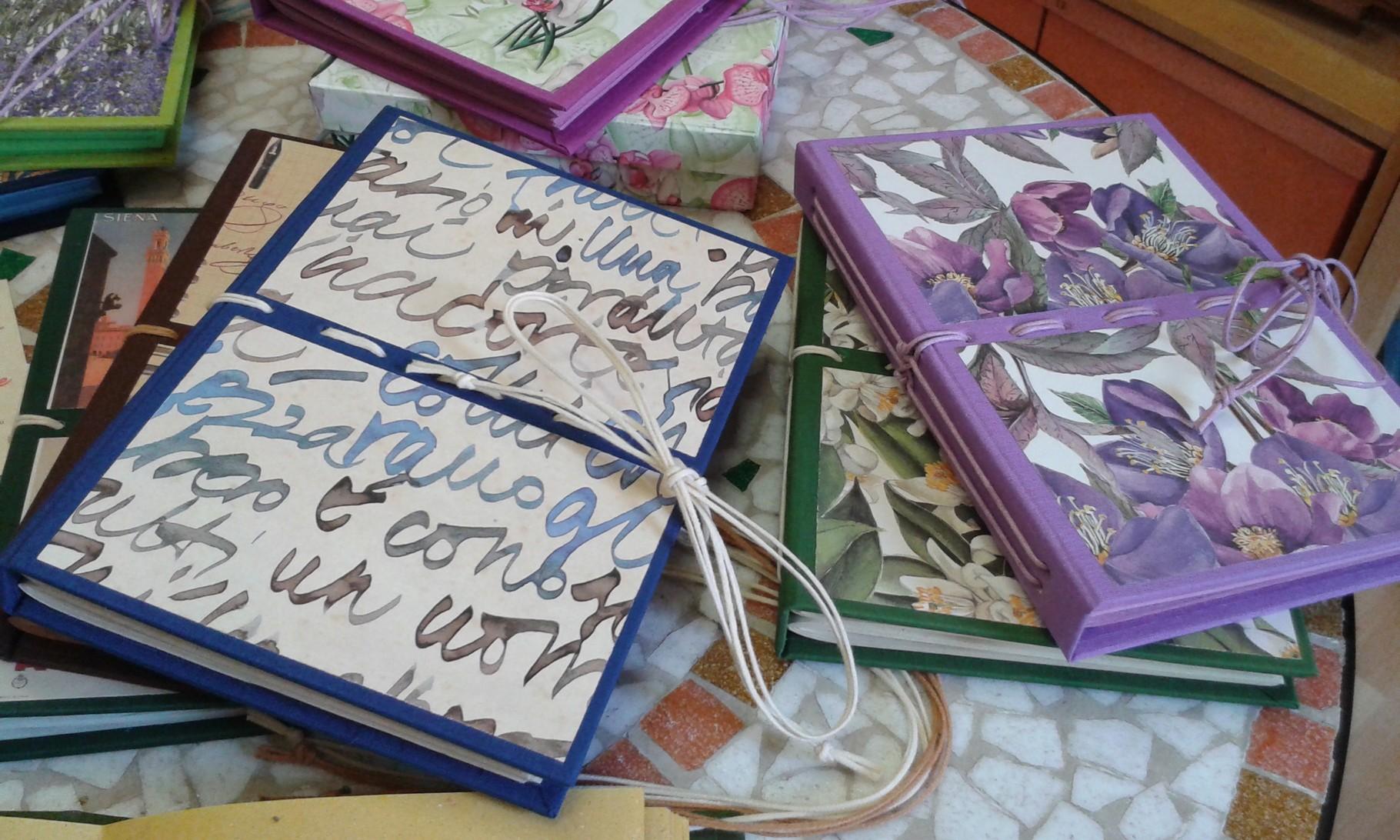 Copertine per quaderni unici e sempre diversi tutti fatti a mano