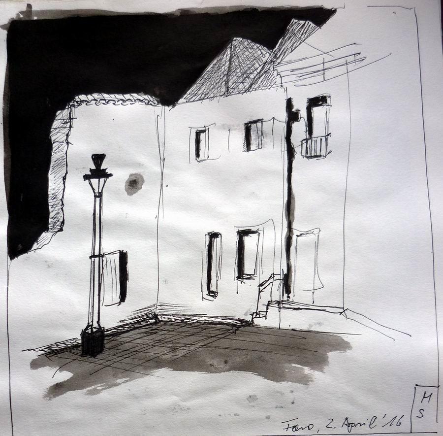 Skizzenbuch_Algarve_2016_Faro_Altstadt