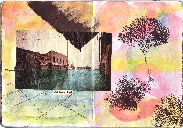 new york sketchbook projekt; Ginko at Coney Island, 2013