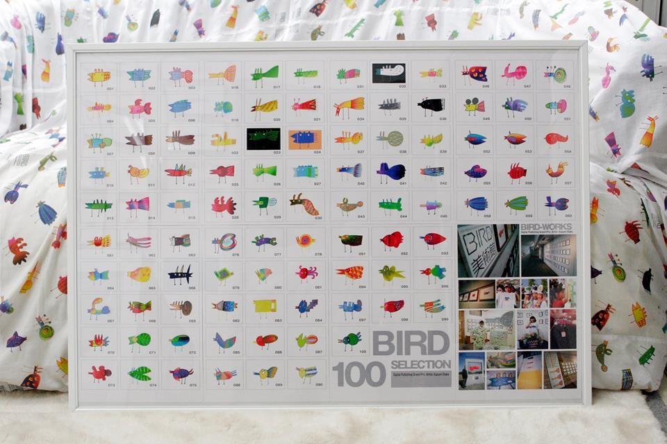 全部で100点のBIRD