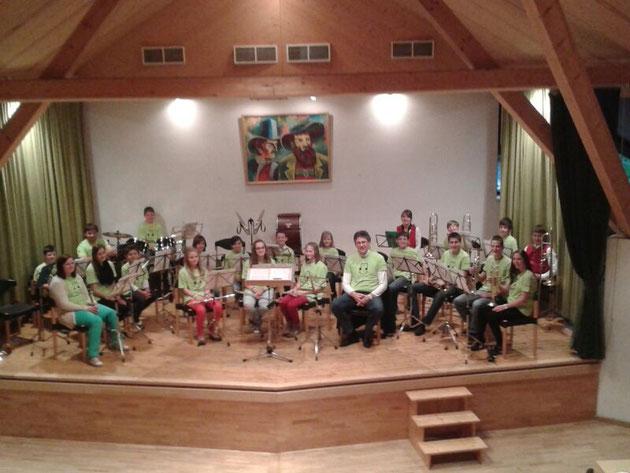 Jugendorchester beim Muttertagskonzert in Obernberg 2016