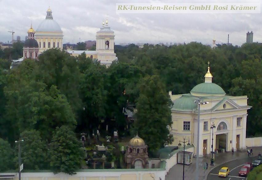 Blick vom Hotel auf das Newski- Kloster