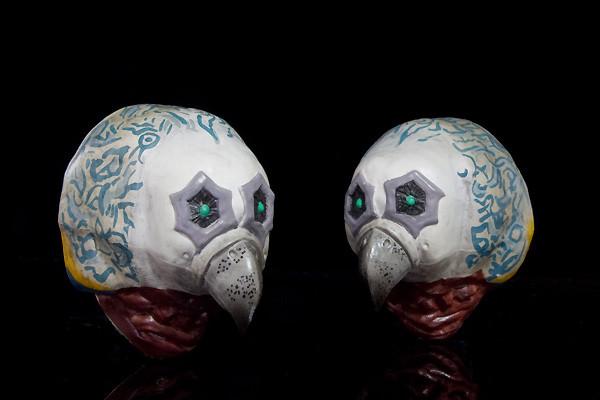 ガッツ星人 後頭部のエスニック模様はマスキングによるものでフリーハンドではない。