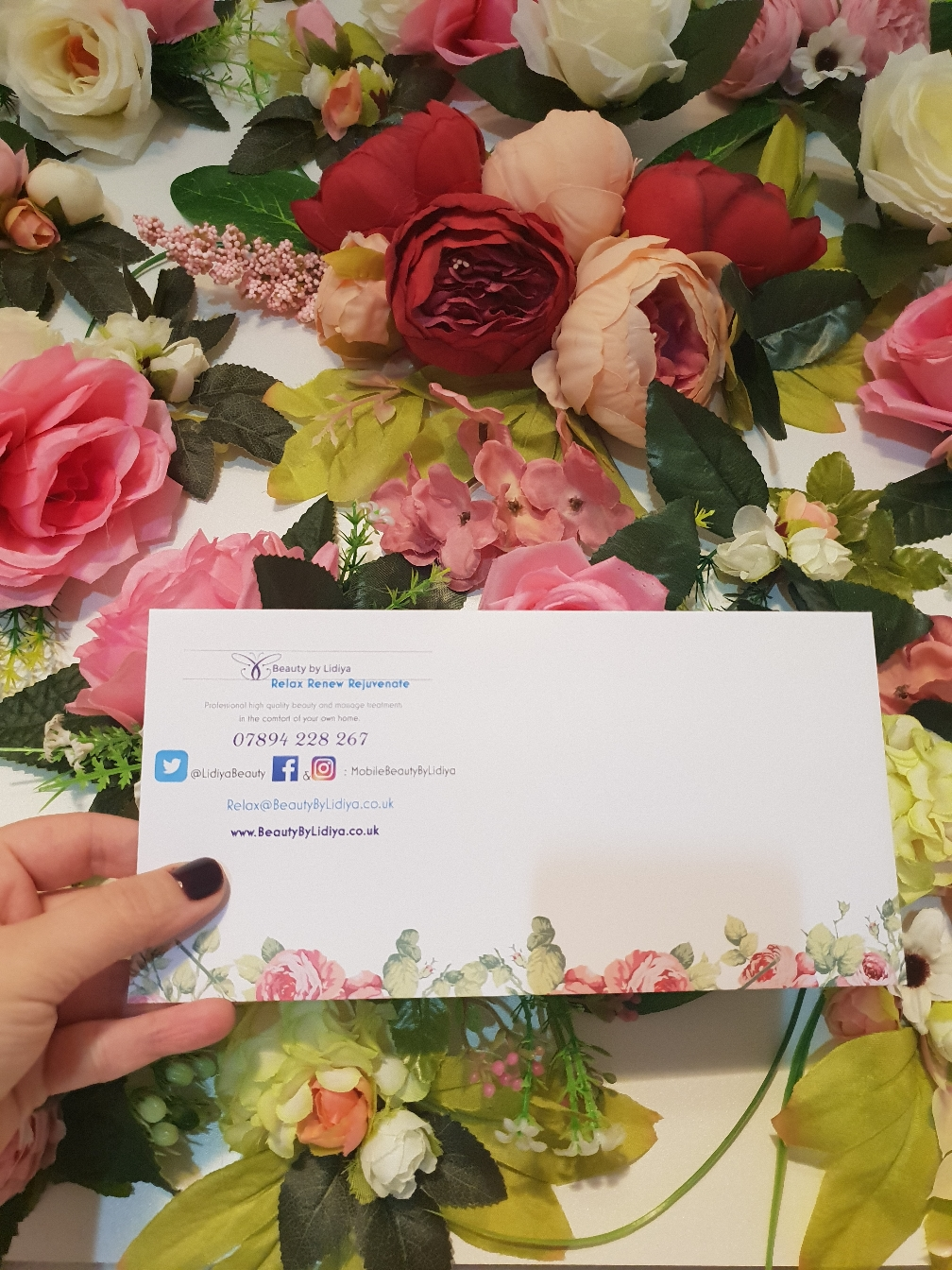 gift voucher mobile beauty by lidiya home visit st albans pamper