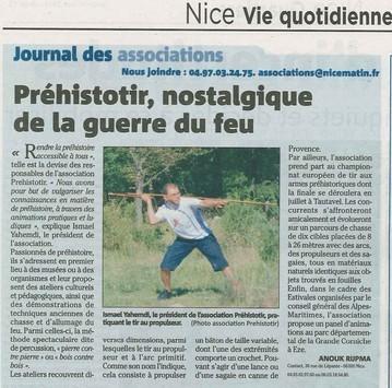 Nice-Matin le 16 juin 2011