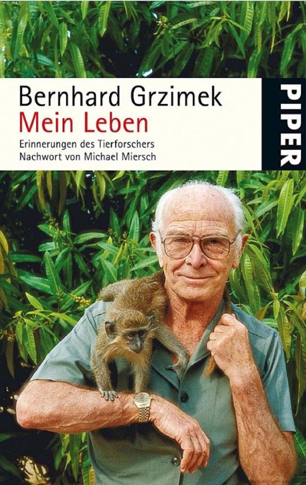 Bernhard Grzimek - Mein Leben - Cover Piper Verlag