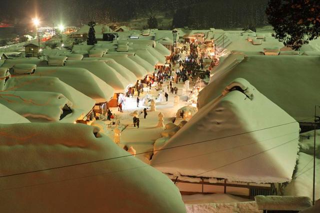 大内宿雪まつり2