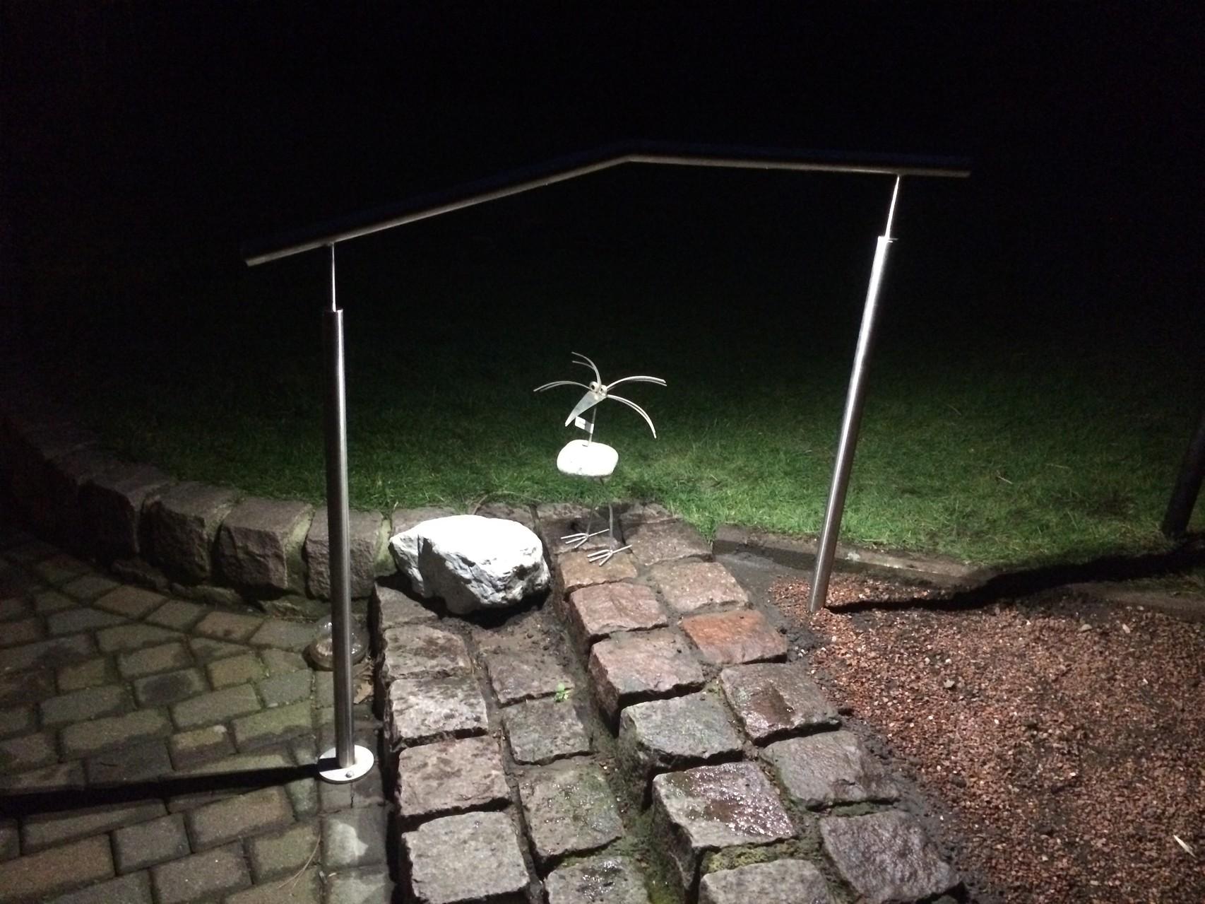 V2A Geländer mit LED Beleuchtung