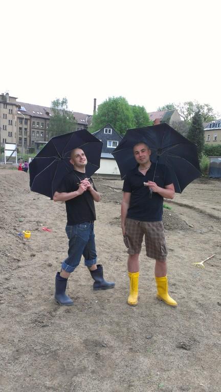 Basti und André - das Kürbisteam!