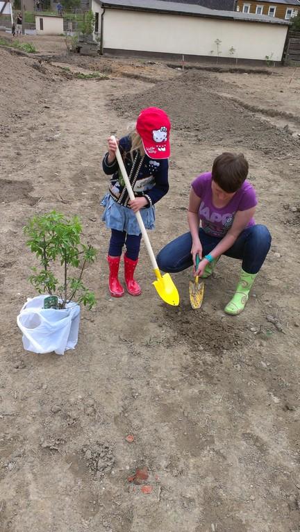 Jette und Anita - wir pflanzen einen Baum!