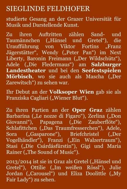 Steckbrief aus der Homepage der Grazer Oper