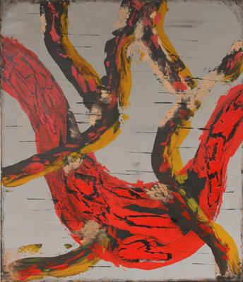 fertig gestellt 2015 - Titel: Verschlingungen - Format 60 x 70 cm - Preis 210,00 €