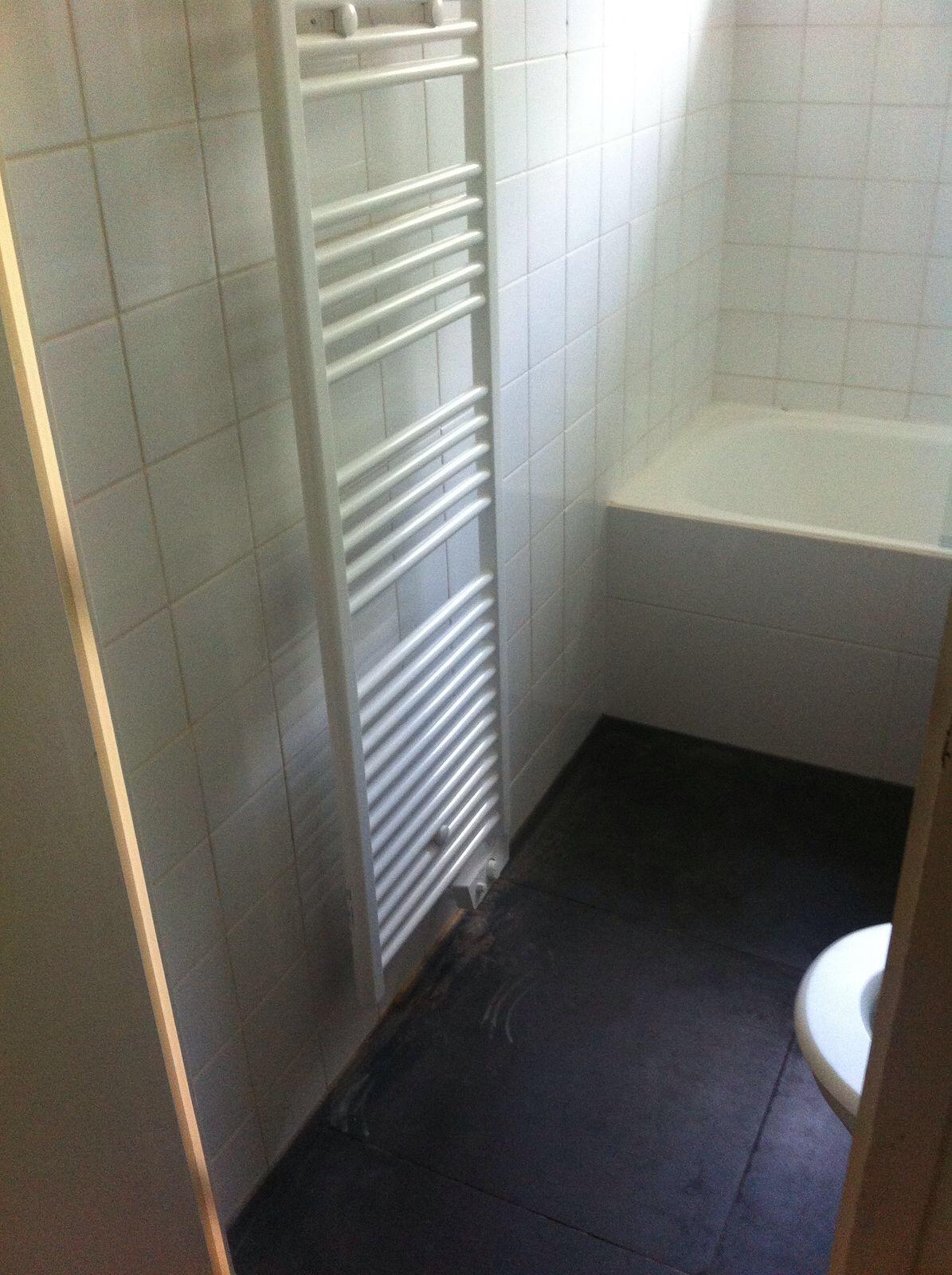 Handdoekradiator in beide badkamers