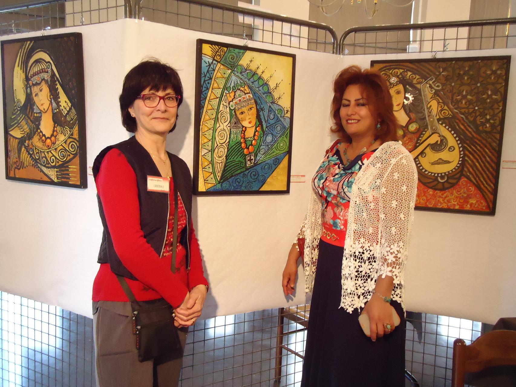 Ez-Zohra Manani (Maroc) et moi-même -Belgique