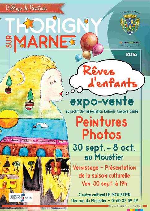 """Exposition au profit """"d'ENFANTS CANCERS et SANTE"""" avec la présence du Pr LEVERGER Hôpital Trousseau"""