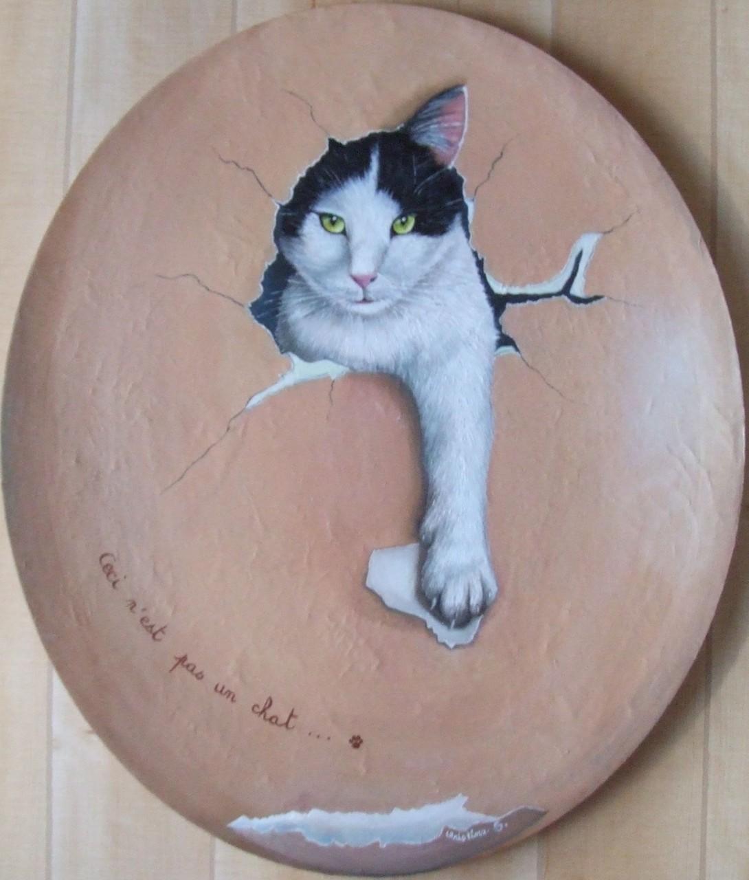 """HOMMAGE à MAGRITTE """"Ceci n'est pas un chat"""""""