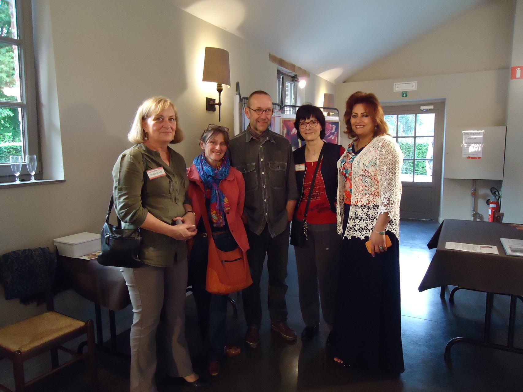 Dominique Petit, couple d'Amis, Ez-Zohra Manani et moi-même - Belgique