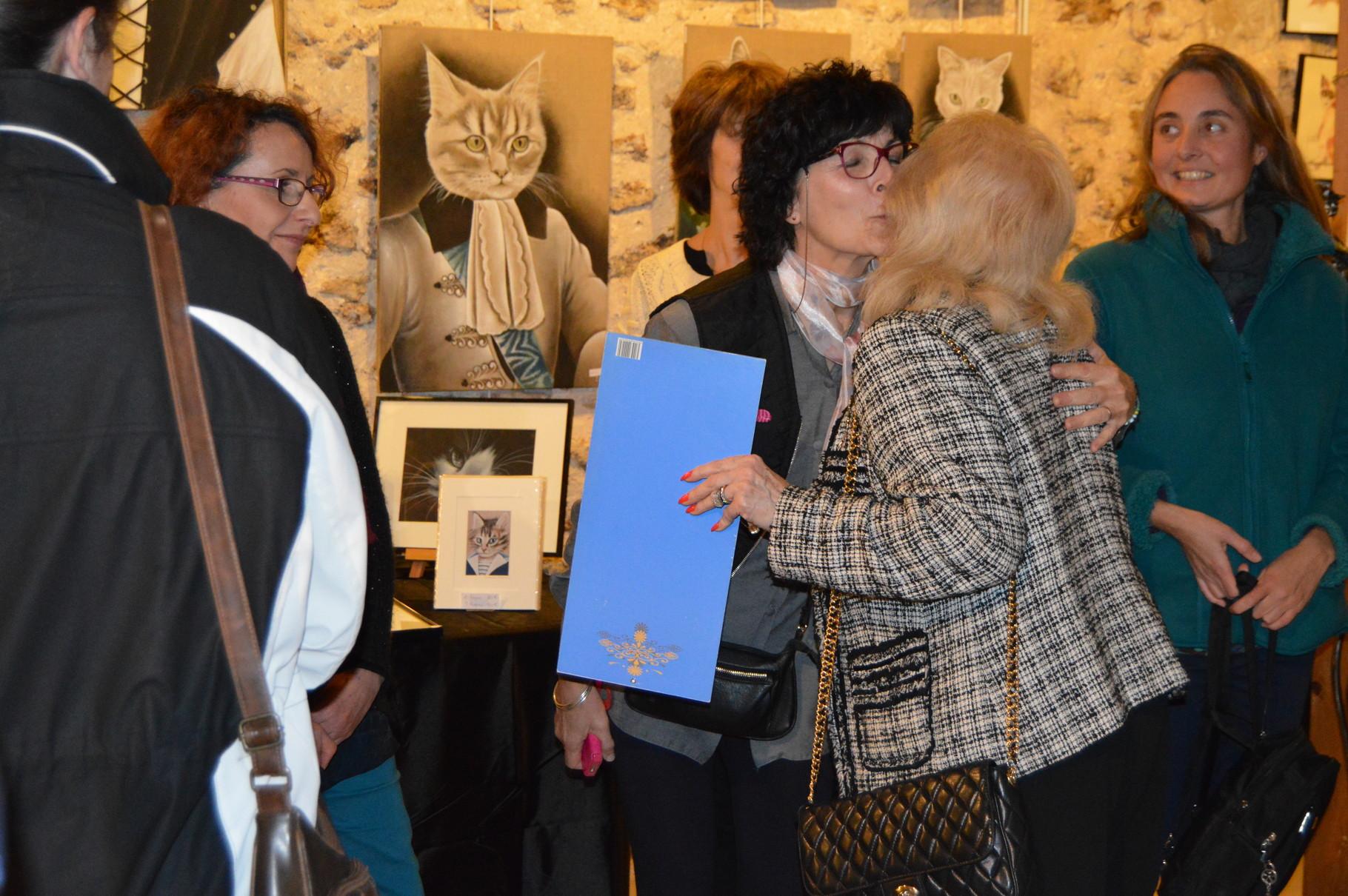 Remerciement aux artistes de la Présidente de l'Ecole du Chat Libre Val d'Yerres et de Seine