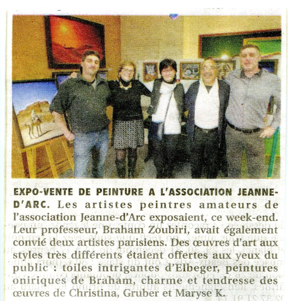 Exposition avec Braham Zoubiri et Philippe Elbeger - Chartres