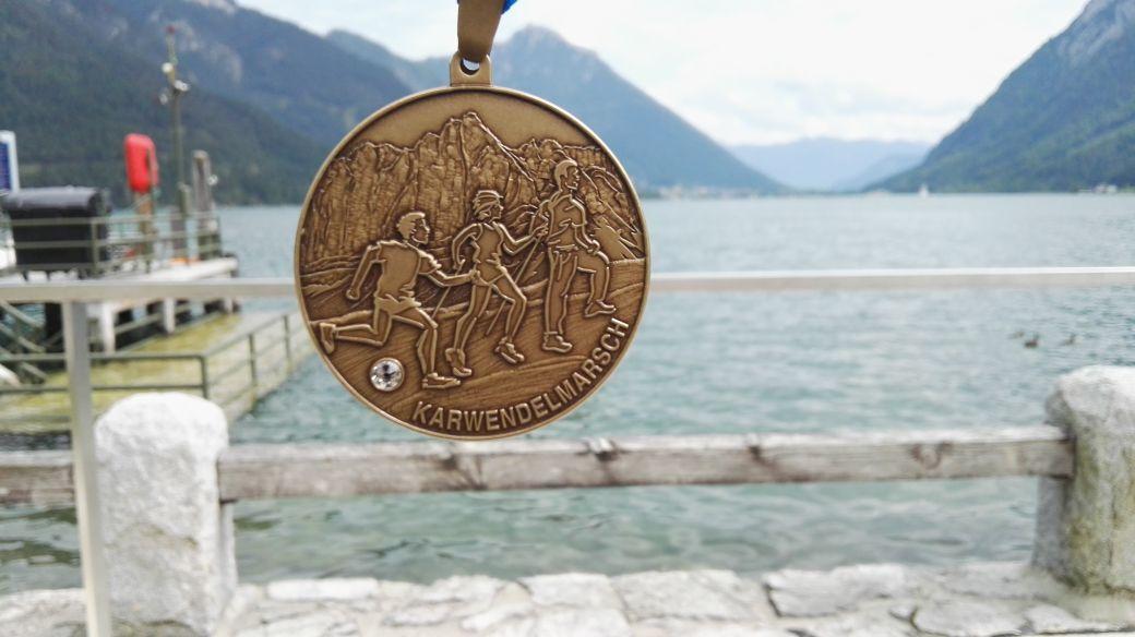Karwendelmarsch 2017 - Die verdiente Medailie